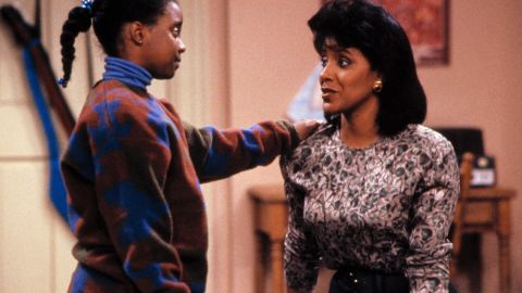 """""""The Cosby Show's"""" Clair Huxtable (Phylicia Rashad, right, with Keshia Knight Pulliam) could keep her doctor husband, played by Bill Cosby, on his toes, and was a successful lawyer and mother to boot."""
