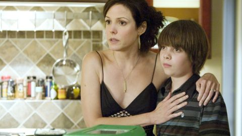 """""""Weeds' """" Nancy Botwin (Mary-Louise Parker, here with Alexander Gould) bent a few rules to maintain the comfortable lifestyle of herself and her kids. Like selling marijuana and trying to stay out of jail. Hey, it was a living."""
