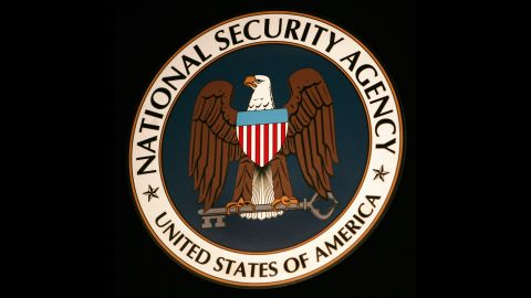 Fort Meade, UNITED STATES:  The logo of the National Security Agency (NSA) hangs at the Threat Operations Center inside the NSA in the Washington suburb of Fort Meade, Maryland, 25 January 2006. US President George W. Bush delivered a speech behind closed doors and met with employees in advance of Senate hearings on the much-criticized domestic surveillance.   AFP PHOTO/Paul J. RICHARDS  (Photo credit should read PAUL J. RICHARDS/AFP/Getty Images)