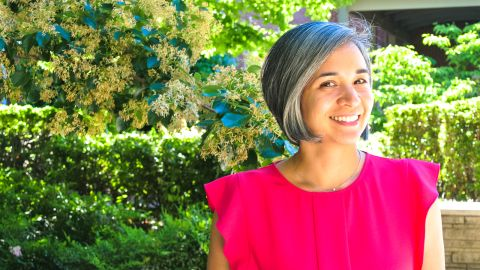 Larissa Pissarra stopped coloring her gray hairs in her 30s and never looked back.