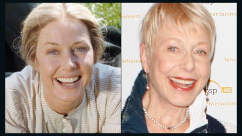 """Karen Grassle, now 73, played family matriarch Caroline """"Ma"""" Ingalls. At a """"Little House"""" cast reunion on """"The Today Show"""" a few years ago, Grassle teared up, noting that she hadn't seen her three TV daughters since Landon's 1991 funeral."""