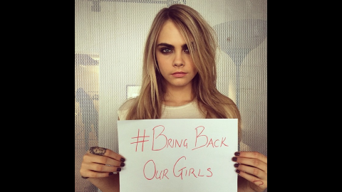 """British supermodel Cara Delevingne posted this photo on her <a href=""""http://instagram.com/p/nvWQAHjKOW/"""" target=""""_blank"""" target=""""_blank"""">Instagram account</a> saying, """"Everyone help and raise awareness #regram #repost or make your own!"""""""