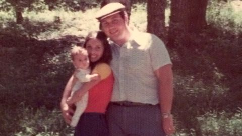 Baby Jeannette Kaplun with her mom and dad in 1973.