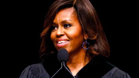 """The first lady delivers the commencement address at Dillard University in New Orleans on May 10. She'll also <a href=""""http://politicalticker.blogs.cnn.com/2014/04/24/first-lady-changes-plans-after-controversy-over-high-school-graduation-address/"""">speak to seniors in Topeka, Kansas, just before their graduation</a> and the District of Columbia College Access Program in Washington this year."""