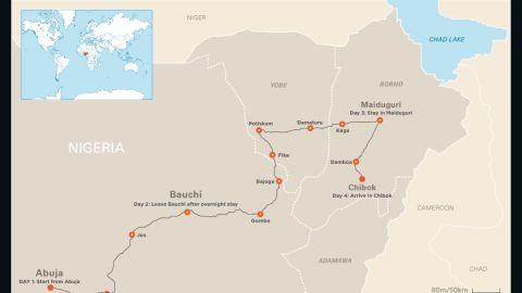 Follow Nima Elbagir's journey to Chibok