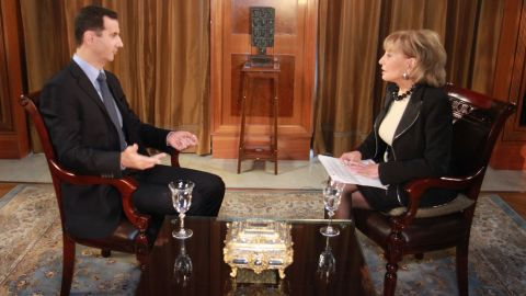 Walters has also done many serious interviews, such as when she sat down with Syrian President Bashar al-Assad on December 4, 2011, for his first exclusive on-camera interview with an American journalist since the start of the uprising in Syria.
