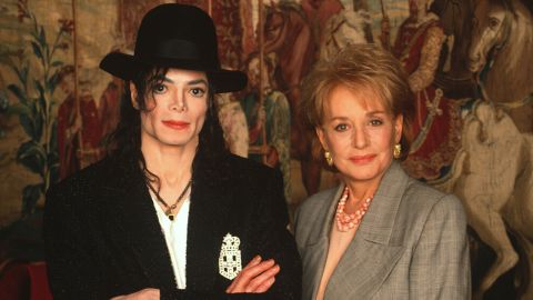 """Michael Jackson spoke to Walters in an exclusive interview about the controversial paparazzi, his experiences with the tabloid press and what it means to be under such intense scrutiny on """"20/20"""" on September 12, 1997. Jackson told her the paparazzi have relentlessly pursued him the way they did Princess Diana."""
