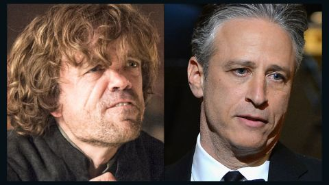 """<strong>Tyrion Lannister / Jon Stewart:</strong> Both are the court jesters of their time. They are outsiders whose savage wit and bawdy sense of humor conceal a first-rate mind and a willingness to use their verbal combat skills to take on some of the most powerful people and institutions of their day. Tyrion, the so-called """"dwarf"""" on """"Game of Thones,"""" would have made a great late-night host."""