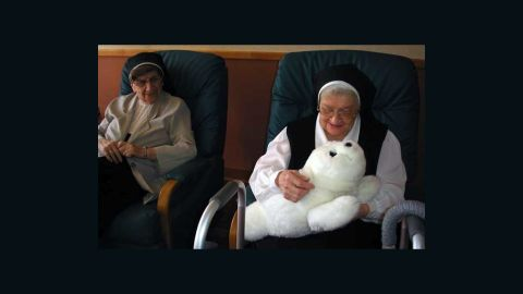 Paro is a robot seal pup developed by Japanese company AIST to lift the spirits of elderly people. It responds to being stroked and to hearing its own name.