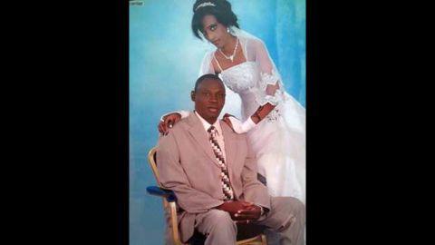 Meriam Yehya Ibrahim and her husband, Daniel Wani, are seen in a wedding photo.