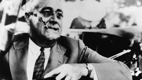 """President Franklin Delano Roosevelt wasn't a fan of the number 13. Biographer John Gunther wrote, """"He hated Friday the 13th, he would never start an important trip on a Friday if he could help it, and he disliked sitting down with 13 at dinner,"""" <a href=""""http://face2face.si.edu/my_weblog/2010/08/fears-of-the-fearless-fdr-a-presidents-superstitions-for-friday-the-13th-.html"""" target=""""_blank"""" target=""""_blank"""">according to the Smithsonian</a>."""