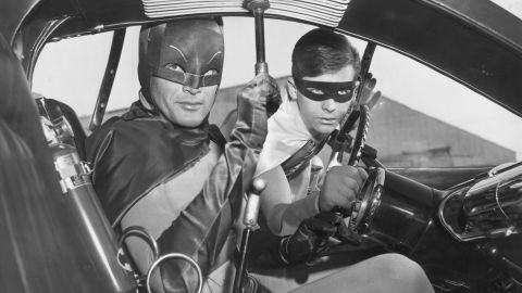 """Adam West, left, and Burt Ward portrayed the Dynamic Duo in the wildly popular 1960s TV series """"Batman."""""""