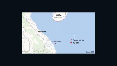 Location of HD-981 rig