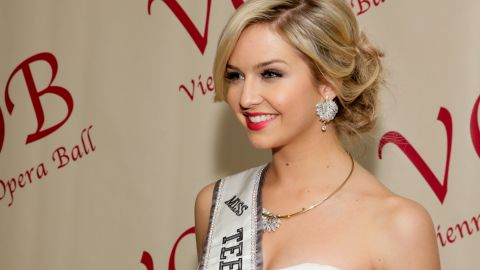 NEW YORK, NY - FEBRUARY 21:  Miss Teen USA 2013 Cassidy Wolf attends the 59th Viennese Opera Ball at The Waldorf=Astoria on February 21, 2014 in New York City.  (Photo by Andrew Toth/Getty Images)