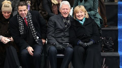 """Former President Bill Clinton, center right, was notably embroiled in an office fling with former <a href=""""http://www.cnn.com/2014/05/06/politics/lewinsky-clinton-affair/"""">White House intern Monica Lewinsky</a>, which became public in 1998. He and wife Hillary weathered the storm and other allegations of infidelity."""