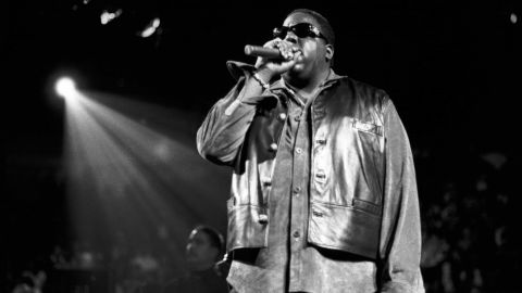 UNITED STATES - OCTOBER 05:  MADISON SQUARE GARDEN  Photo of NOTORIOUS BIG, Notorious B.I.G. performing at Madison Sq Garden for Urban Aid on 10-5 -1995  (Photo by )