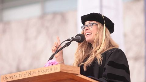 """The screenwriter and director of Disney's """"Frozen"""" spoke at University of New Hampshire's commencement on May 17. Lee is a 1992 graduate of the school."""