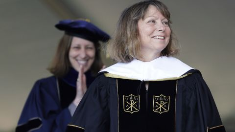 """Jill Abramson, former executive editor of The New York Times, received an honorary doctorate during the commencement ceremony at Wake Forest University in Winston-Salem, North Carolina, on May 19. It was <a href=""""http://money.cnn.com/2014/05/19/news/companies/abramson-speech/"""">Abramson's first public appearance</a> since her dismissal from The New York Times."""