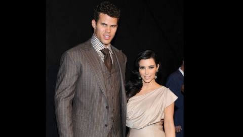 """Kris Humphries. He's a professional basketball player -- <a href=""""http://espn.go.com/blog/boston/celtics/post/_/id/4712688/report-card-kris-humphries"""" target=""""_blank"""" target=""""_blank"""">who played for the Boston Celtics in the 2013-2014 season</a> -- but he's better known as the man Kim Kardashian was married to for 72 days. The couple dated for six months before Humphries proposed with a 20.5 carat ring in May 2011. Within two months of tying the knot in front of several celebrities and E!'s TV cameras for a four-hour wedding special, <a href=""""http://marquee.blogs.cnn.com/2011/10/31/report-kim-kardashian-files-for-divorce/?iref=allsearch"""" target=""""_blank"""">Kardashian filed for divorce.</a>"""