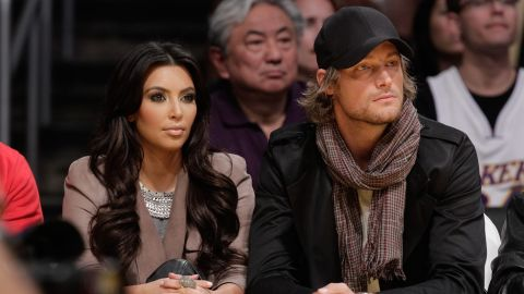 """For a nanosecond in 2010 -- which is Kardashian time for a few weeks -- Kim Kardashian dated model Gabriel Aubry after he broke up with Halle Berry. <a href=""""http://www.people.com/people/article/0,,20463181,00.html"""" target=""""_blank"""" target=""""_blank"""">The rumor at the time</a> was that Berry wasn't happy with the idea of reality show cameras being anywhere near daughter Nahla, whom she welcomed with Aubry in 2008."""