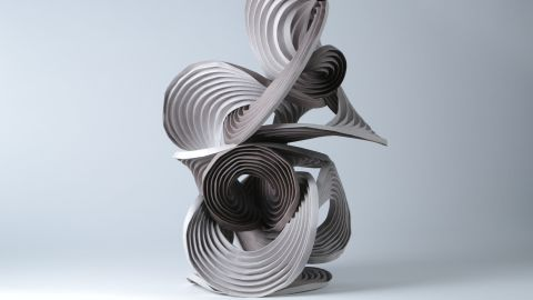 """Erik and Martin Demaine created this swirling work. Nguyen says they are among the only origami artists to cross over into the mainstream. """"[They] have a few pieces which are part of The Museum of Modern Art's permanent collection,"""" she says."""