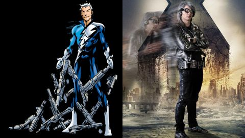 """Evan Peters portrays the lightning fast Quicksilver for the first time (a role also played by Aaron Taylor-Johnson in the upcoming """"Avengers: Age of Ultron"""")."""