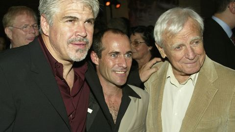 """While still riding, Stevens went into acting, teaming up with Gary Ross (left), director of the 2003 film """"Seabiscuit,"""" and son of acclaimed screenwriter Arthur Ross (right)."""