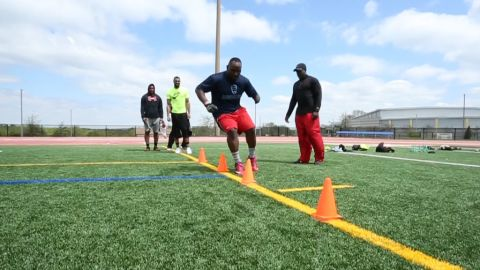 When playing college football on the East Coast didn't pan out, Curtis Harmon went home and began training for the NFL draft.