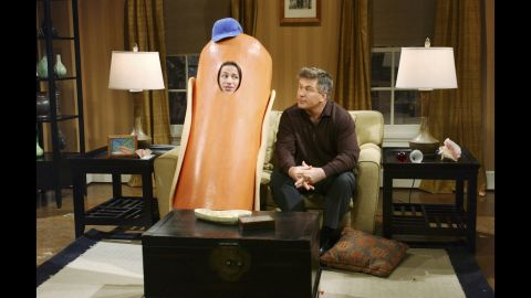 """Andy Samberg, left, and Alec Baldwin perform in a """"Saturday Night Live"""" skit called Hot Dog Family in 2005."""