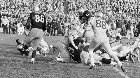 """In 1963's thrilling Army-Navy game, Navy beat Army 21-15 behind Heisman Trophy-winning quarterback Roger Staubach. Today, the game is best remembered for the introduction of instant replay -- though many TV watchers <a href=""""http://www.wired.com/2010/12/1207army-navy-game-first-instant-replay/"""" target=""""_blank"""" target=""""_blank"""">were unaware of the technology and slammed CBS' switchboard</a> in confusion. Now instant replay is a regular part of sports broadcasts."""