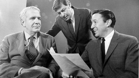 """In September 1968, the newsmagazine """"60 Minutes"""" -- created and produced by Don Hewitt, center -- premiered with Harry Reasoner, left, and Mike Wallace, right. The tremendously influential show spawned a host of imitators and is still on the air today."""