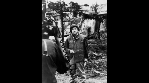 """CBS anchor Walter Cronkite reports from Vietnam after the Tet Offensive in 1968. Cronkite's special, """"Report from Vietnam by Walter Cronkite,"""" concluded with his observation that the war would end in a stalemate. One month later, U.S. President Lyndon B. Johnson announced he would not seek re-election."""
