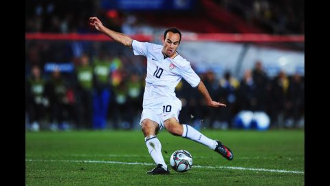 United States soccer fans went wild when Donovan scored the second goal to put his squad up 2-0 in a Confederations Cup game against vaunted Brazil in Johannesburg, South Africa, in 2009. It wouldn't be enough, as there's a reason Brazil was vaunted. The United States would eventually fall 2-3.