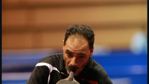 """""""It was quite difficult playing table tennis after the accident,"""" says Hamadto. """"I had to practice hard for three consecutive years on a daily basis.  At the beginning, people were amazed and surprised seeing me playing. They encouraged and supported me a lot and they were very proud of my willing, perseverance and determination."""""""