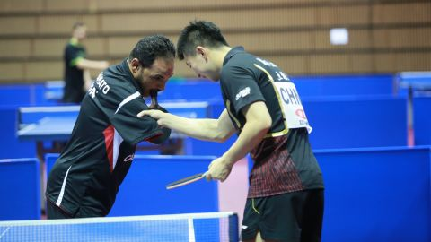 The 41-year-old was the guest of honor at the World Team Table Tennis Championships in Tokyo, Japan, earlier this month.