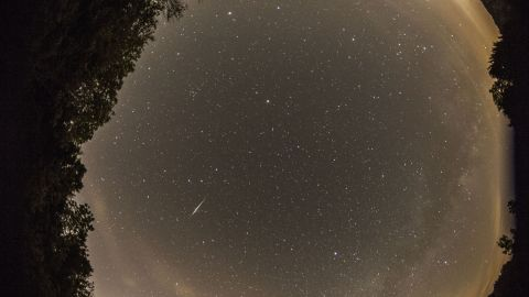 """<a href=""""http://ireport.cnn.com/docs/DOC-1136494"""">Jean-Francois Gout</a> had only one word to describe the Camelopardalids meteor shower: """"Disappointing!"""" He said he did manage to photograph a few meteors from Lake Monroe in Indiana."""
