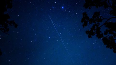 """<a href=""""http://ireport.cnn.com/docs/DOC-1136589"""">Jason Walle </a>was photographing the meteor shower in Cashiers, North Carolina, and says it was a bust in terms of the number of sightings. """"Despite that, it was pretty amazing to see it since it was the first shower for this comet,"""" he said."""