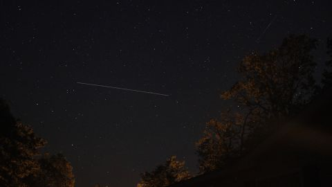 """Astrophotographer <a href=""""http://ireport.cnn.com/docs/DOC-1136672"""">Barry Shupp</a> was hoping to get photos of the meteor shower from Hustontown, Pennsylvania. Instead, he had a chance to photograph the International Space Station while also catching a meteor passing by overhead."""