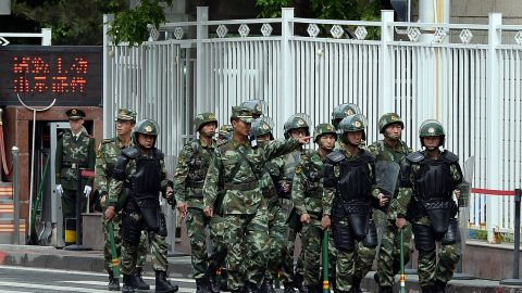 China's Xinjiang province is heavily militarized amid ongoing threats of terror attacks.