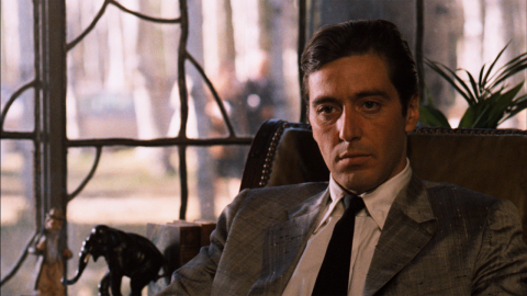 """The first two<strong> """"Godfathers""""</strong> get the """"Movie Guide's"""" highest rating -- four stars. The 1972 film is """"pulp fiction raised to the highest level. ... Absolutely irresistible,"""" while 1974's """"Part II,"""" with Al Pacino, above, is """"a sequel that's just as compelling."""" The 1990 """"Part III"""" rates three stars."""