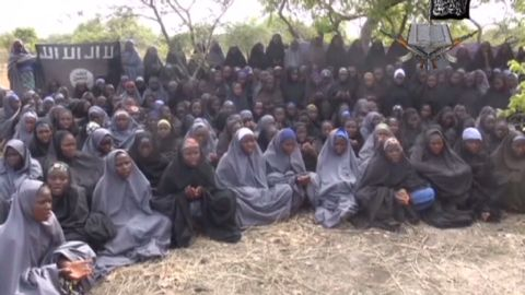 An image of the abducted school girls was released last year.