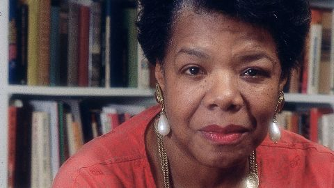 Maya Angelou is pictured in her home in this undated photo.  (Moneta Sleet Jr./Ebony Collection/AP)
