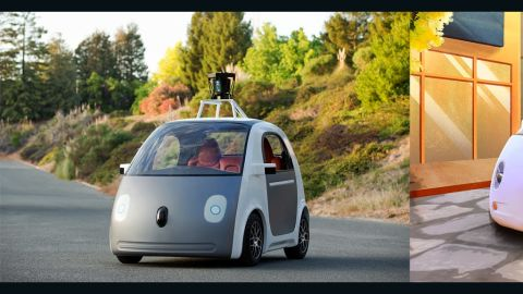 An early version of Google's self-driving car prototype was revealed on May 27, 2014.