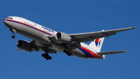 File photo: The missing Malaysia Airlines 777 airliner, photographed in Australia in 2010.