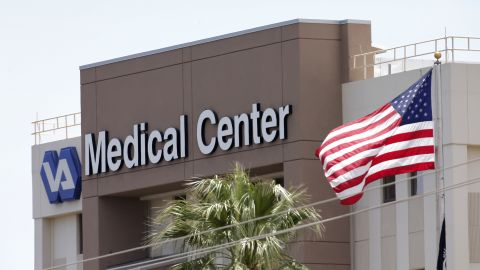 This photo from Saturday, May 17, 2014 shows the Department of Veterans Affairs in Phoenix. The Veterans Affairs Inspector General's office said late Tuesday, May 20, 2014, that 26 facilities are being investigated nationwide — up from 10 just last week — including a hospital in Phoenix, Arizona, where 40 veterans allegedly died while waiting for treatment and staff there kept a secret list of patients waiting for appointments to hide delays in care. (AP Photo/Matt York)