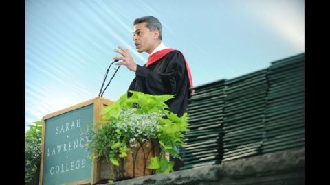 """The host of """"Fareed Zakaria GPS"""" on CNN delivered the commencement address at Sarah Lawrence College on May 23."""
