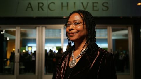 """Pulitzer Prize and National Book Award-winning author Alice Walker has written biographical books and lauded novels, such as 1982's """"The Color Purple,"""" which was made into an Oscar-nominated film starring Whoopi Goldberg and directed by Steven Spielberg. She is also a poet and activist for women's rights."""