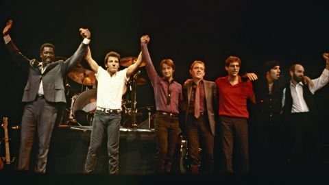"""The legendary E Street Band (L-R: Clarence Clemons, Bruce Springsteen, Garry Tallent, Danny Federici, Max Weinberg, Steven Van Zandt and Roy Bittan, in 1981) were inducted into the Rock Hall in the category for musical excellence. At the ceremony, held in New York last month, Springsteen accepted the honor, saying, """"I thank you my beautiful men and women of E Street. You made me dream and love bigger than I could have ever without you. And tonight I stand here with just one regret: that (the late) Danny (Federici) and Clarence (Clemons) couldn't be with us here."""""""