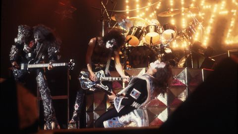 """Kiss used makeup to take its stage persona to another level. The group built its fan base over <a href=""""http://www.cnn.com/2014/05/02/showbiz/gallery/40-years-of-kiss/"""">40 years</a> of constant touring and was rewarded with such hit singles as """"Rock and Roll All Nite,"""" """"Beth"""" and """"Hard Luck Woman."""""""