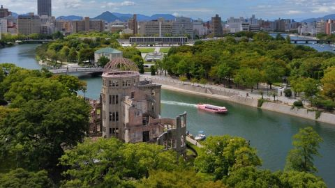 Hiroshima's Atomic Bomb Genbaku Dome became a UNESCO World Heritage Site in 1996. When the United States dropped the bomb on August 6, 1945, it exploded just above the building.